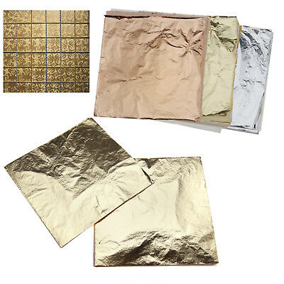 300 sheets /100 sheets Gold14x14cm Imitation Gold&Silver&Copper Leaf Foil Paper