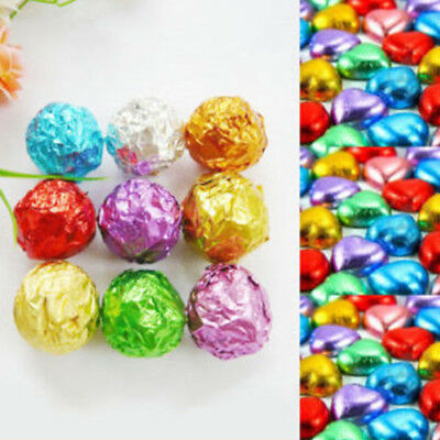 100PCS Square Candy Paper Aluminum Foil Wrapping Chocolate Package Decor