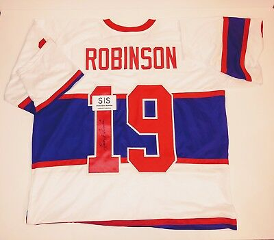 LARRY ROBINSON AUTHENTIC Signed Autographed CANADIENS NHL HOCKEY Jersey SSM COA