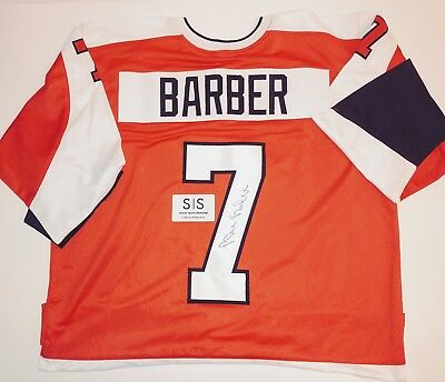 BILL BARBER AUTHENTIC Signed Autographed FLYERS NHL HOCKEY Jersey SSM COA