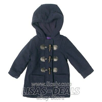 ad8ccf58531 Girls Kids Childrens Madden Girl Coat Navy Winter Duffle Jacket Hooded 18M