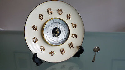 Aneroid Barometer, Astrological Theme Wall Plaque. British Made Quality !