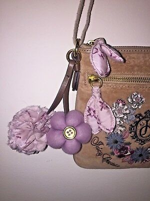 39ead3d78b13 JUICY COUTURE FLUFFY Lightweight Handbag Dirt Gold Slouch Large Hobo ...