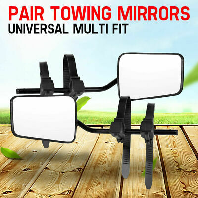 Convex Towing Mirrors Strap On Cars Caravan For Ford Ranger Wildtrak XLS MK PX