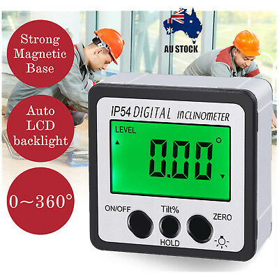 LCD Magnetic Digital Bevel Box Gauge Angle Finder Protractor Level Inclinometer