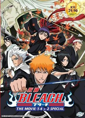 DVD Anime BLEACH The Movie (1-4) + 2 Special Complete Collection English Dub*