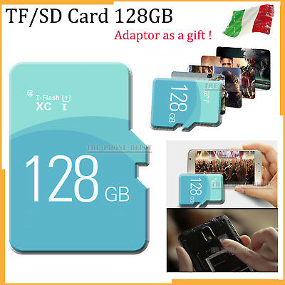 TF Flash Card Micro SD Scheda di memoria memory Stick adattatore 128GB