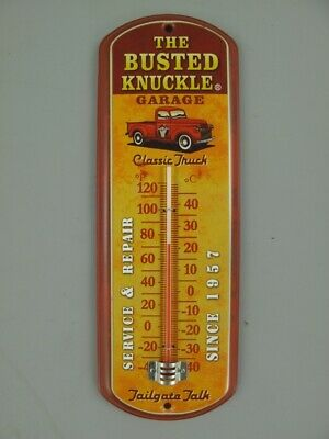 G1042: Werbe Thermometer Classic Truck, Retro Blech Thermometer, Wandthermometer