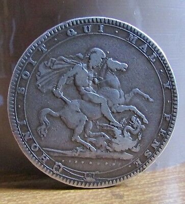 1819 LIX King George 3rd UK 92.5% Sterling Silver Crown Coin