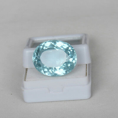 23.95 Ct. Natural Aquamarine Greenish Blue Color Oval Cut Certified Loose Gems