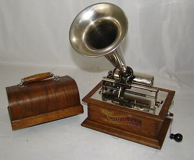 1908 Columbia Type Bv Royal Phonograph Smallest Columbia 100% Restored