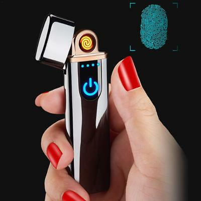 USB Charging Fingerprint Touch Electric Lighter Flameless Windproof Cigarette