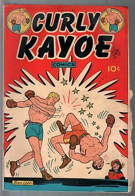 Curley Kayoe #1-First issue-boxing comic strip-Fritzi Ritz-Sam Leff-VG/FN