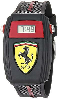 Ferrari Boy's 810012 Black Silicone Digital 34mm Watch 0810012