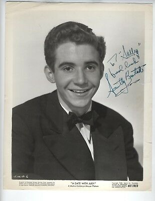 SCOTTY BECKETT c1948 SIGNED PHOTO OUR GANG Little Rascals Hal Roach Child Actor