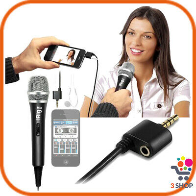 Microfono per iPhone smartphone cellulare telefono android iPad dinamico pc jack