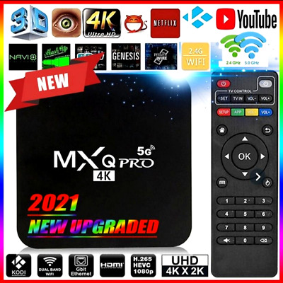 Ott Tv Smart Box 4K 2Gb Android Mxq Pro Wifi Quad Core + Tastiera Rii Mini I8+