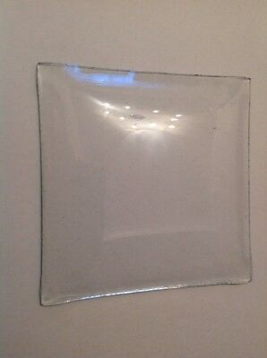 Clock Glass Square Convex  101mm X 101mm Clockmakers Spare Part