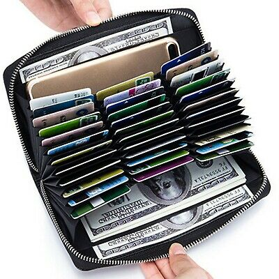 CoreLife RFID Blocking Credit Card Holder Wallet 36 Slot Organizer for Women Men