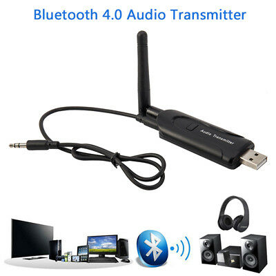 USB 3.5mm Wireless Bluetooth 4.0 A2DP Audio Transmitter Sender for Laptop PC TV
