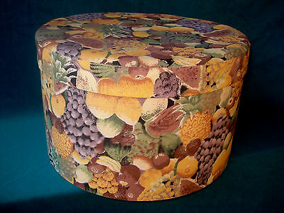 """12"""" Vintage Style Victorian Country Fruit Shabby Chic Decorative Storage Hat Box"""