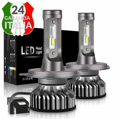 Kit Led H4 6000K Full Canbus Xenon 12000Lm Lumen Lampade