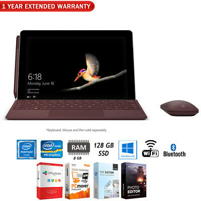 """Microsoft Surface Go 10"""" 128GB Intel Pentium Tablet PC + Extended Warranty Pack"""