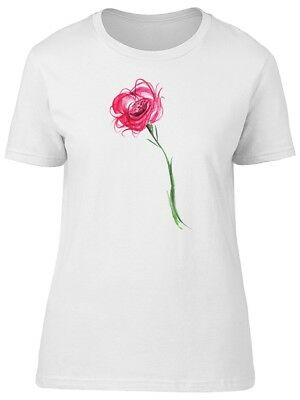Lovely Hot Pink Red Flowers Women's Tee -Image by Shutterstock