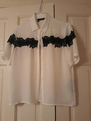 04916e2c0 NWT THE KOOPLES Floral Embroidered Crepe Button Up Shear Black Shirt ...