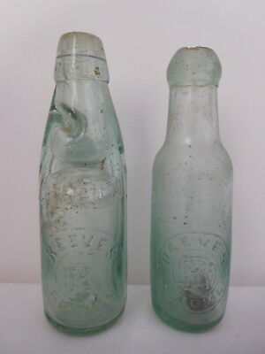 Antique Glass Bottle 6oz Codd Reeves Frome & 6oz Bullet Stopper Reeves Frome
