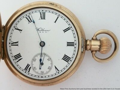 Antique Pocket Watch Waltham 16S Hunters Case to Restore and Fix