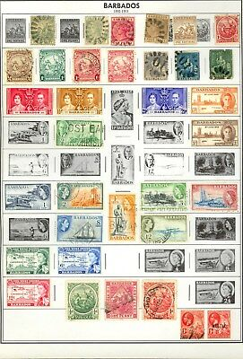 Barbados Stamp All Different Used Mint HInged Good Lot U71