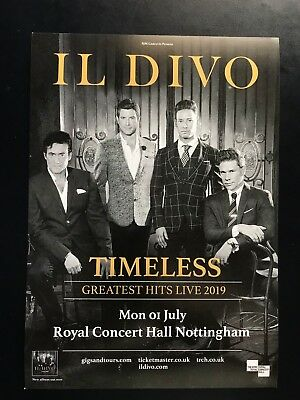 3x IL DIVO timeless 2019 live promo FLYERS greatest hits concert tour nottingham