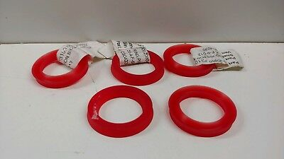 Lot Of (5) New Old Stock! Generic Red Replacement Crank Seals Csc4030