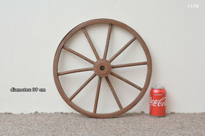vintage old wooden cart wagon wheel - 39 cm  FREE DELIVERY