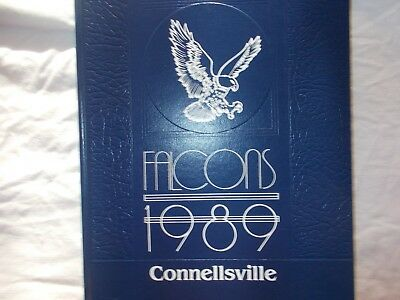 Connellsville, PA Falcons 1989 yearbook excellent condition