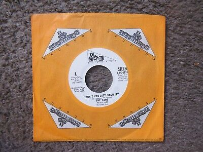 """The Tams """"don't You Just Know It"""" 1973 Stereo+Rare Mono Vers.white Lable Promo"""