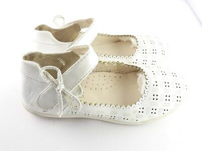 toddler baby kids girl shoes soft sole white faux leather girls size 29 EUR