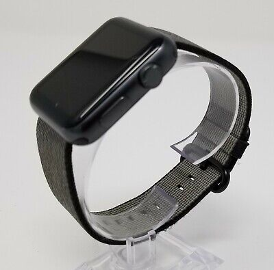Genuine Apple Watch Band Black Woven Nylon 42MM - Authentic OEM