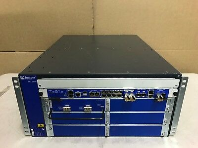 Juniper SRX3600BASE-AC with 4 PSU SRX3K-SFB-12GE SRX3K-2XGE-XFP SRX3K-RE-12-10