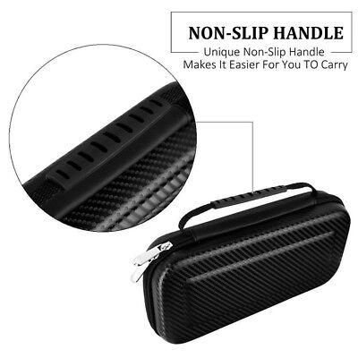 For Nintendo Switch Hard EVA Carry Storage Case Dustproof Charging Cable Bag