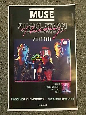MUSE 11x17 2019 promo tour Simulation theory concert poster lp cd tickets