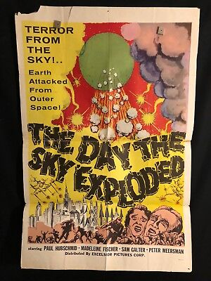 Day The Sky Exploded 1961 One Sheet Movie Poster Sci Fi Alien Outer Space