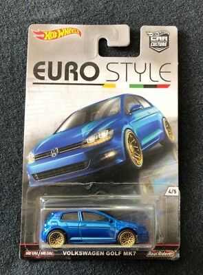 Hot Wheels Car Culture Euro Style Volkswagen Golf Mk7 New Real