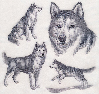 Siberian Husky Embroidered Tote Bag Any Color 21 95 Picclick