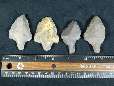 A Lot of FOUR! Nice 55,000 to 12,000 Year Old Aterian Artifacts Algeria 80.9gr e