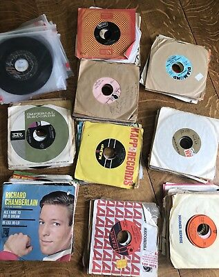 Lot Of 45 RPM Records Autographed The Uniques R&B Rock Pop Classics 145 In All
