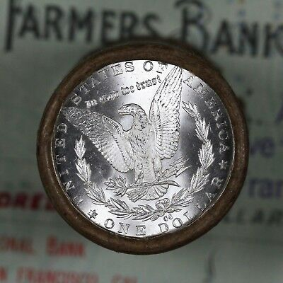 (ONE) $20 Silver Dollar Roll S-Mint and CC-Mint Morgan Dollar Ends