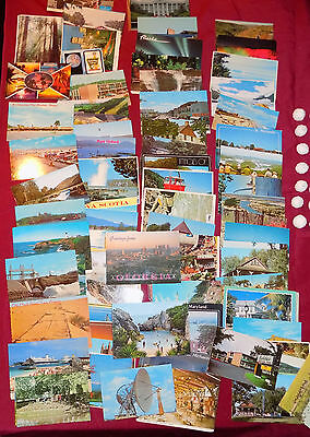 POSTCARDS Assorted USA & CANADA Lot of 70 COLOR POSTCARDS 60's -70's - 80's