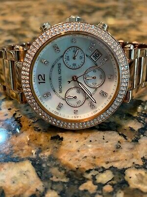 4a1fe6184900 Michael Kors Mid-Size Parker Chronograph Glitz MK5491 Wrist Watch for Women